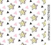 fashionable stars vector kids... | Shutterstock .eps vector #790796038