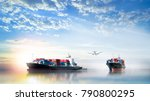 logistics and transportation of ... | Shutterstock . vector #790800295