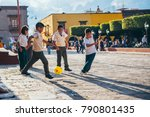 mexico   september 27  kids... | Shutterstock . vector #790801435