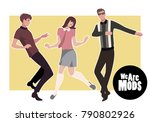 we are mods. young guys and... | Shutterstock .eps vector #790802926