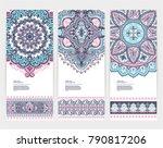 indian medallion ornament... | Shutterstock .eps vector #790817206