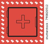 medicine chest icon flat....
