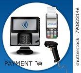 contactless payment transaction ... | Shutterstock .eps vector #790823146