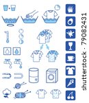 set of symbols for detergent... | Shutterstock .eps vector #79082431