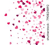 heart confetti beautifully... | Shutterstock .eps vector #790824892