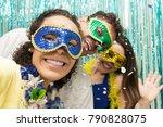 multi ethnic group of friends... | Shutterstock . vector #790828075