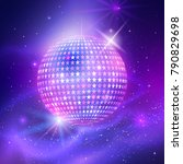 vector illustration of disco... | Shutterstock .eps vector #790829698