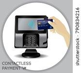 contactless payment transaction ... | Shutterstock .eps vector #790834216