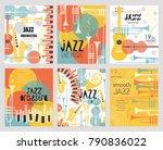 vector set poster for the jazz... | Shutterstock .eps vector #790836022