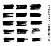 vector brush strokes text boxes.... | Shutterstock .eps vector #790844878
