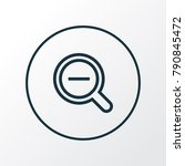 zoom out icon line symbol....   Shutterstock .eps vector #790845472