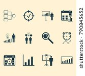 board icons set with project... | Shutterstock .eps vector #790845652