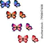 Colorful Butterfly Shape Set O...