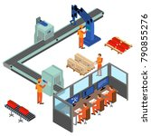 automated factory assembly line ...   Shutterstock .eps vector #790855276
