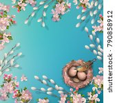 spring vector background with... | Shutterstock .eps vector #790858912