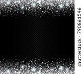 eps 10 vector sparkling silver... | Shutterstock .eps vector #790861546