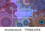 ethnic banners template with... | Shutterstock .eps vector #790861696