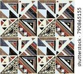 seamless geometric african... | Shutterstock .eps vector #790865155
