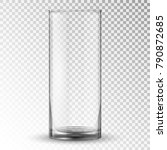 empty realistic drinking glass... | Shutterstock .eps vector #790872685