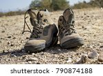 Hiking Boots On A Trail In The...