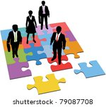 business people team stand on... | Shutterstock .eps vector #79087708