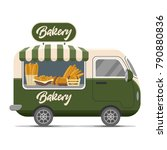 bakery street food caravan... | Shutterstock .eps vector #790880836