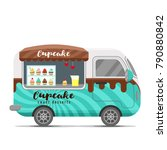 cupcake street food caravan... | Shutterstock .eps vector #790880842