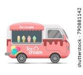 ice cream street food caravan... | Shutterstock .eps vector #790881142