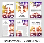 abstract vector layout... | Shutterstock .eps vector #790884268