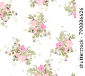 seamless summer pattern with... | Shutterstock . vector #790886626