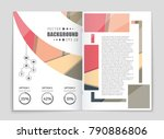 abstract vector layout... | Shutterstock .eps vector #790886806
