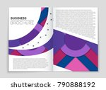 abstract vector layout... | Shutterstock .eps vector #790888192