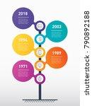 vertical timeline infographics. ... | Shutterstock .eps vector #790892188