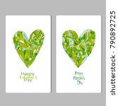 happy valentine's day. template ... | Shutterstock .eps vector #790892725