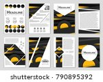 abstract vector layout... | Shutterstock .eps vector #790895392