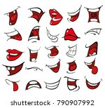 vector illustration of a set of ... | Shutterstock .eps vector #790907992