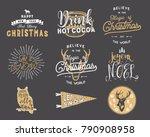 big merry christmas typography... | Shutterstock .eps vector #790908958