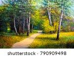 Oil Painting  Forest Landscape ...