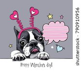 card of a valentine's day.... | Shutterstock .eps vector #790910956
