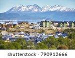 ushuaia city  capital of tierra ... | Shutterstock . vector #790912666