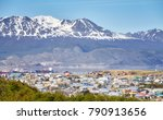 ushuaia city  commonly known as ... | Shutterstock . vector #790913656