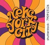 new york city.classic... | Shutterstock .eps vector #790915126