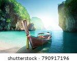 boat on the beach   krabi... | Shutterstock . vector #790917196