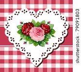 vintage rose bouquet... | Shutterstock .eps vector #79091803
