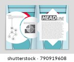 abstract vector layout... | Shutterstock .eps vector #790919608