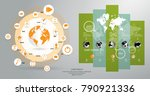 business infographic layout | Shutterstock .eps vector #790921336