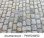 black cobbled stone road... | Shutterstock . vector #790924852