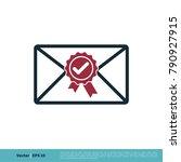 check mark award stamp envelope ...   Shutterstock .eps vector #790927915