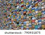 big multimedia video and image... | Shutterstock . vector #790931875