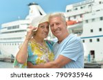 happy elderly couple   | Shutterstock . vector #790935946